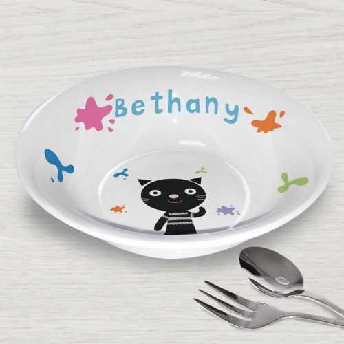 Personalised Arty Mouse Single Character Splash Bowl